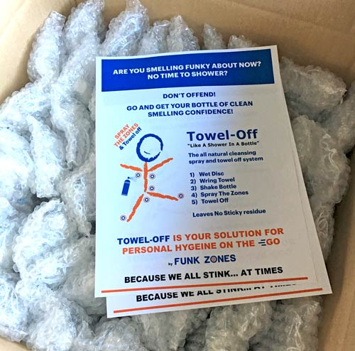 FunkZones donates Towel-Off to the Oroville Dam emergency workers